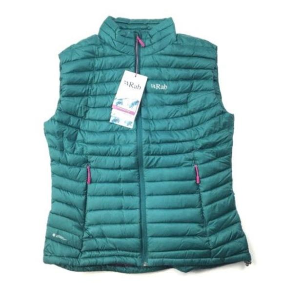 NEW RAB Women s Large Microlight Vest Spruce Peony c391c2b99e786